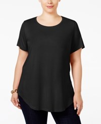 Jm Collection Plus Size Scoopneck Top Only At Macy's Deep Black