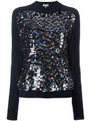 Emilio Pucci Sequined Sweater Blue