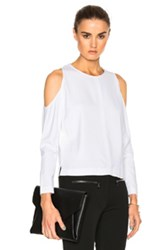 Veronica Beard Knight Cold Shoulder Top In White