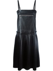 Maison Martin Margiela Mm6 Maison Margiela Pleated Faux Leather Dress Black