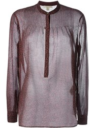 Burberry Brit Sheer Star Print Blouse Pink And Purple