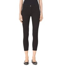 Michael Kors Stretch Suede Skinny Jeans Black