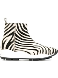 Opening Ceremony Zebra Print Ankle Boots Black