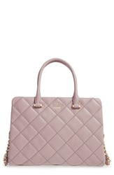 Kate Spade New York 'Emerson Place Olivera' Quilted Leather Satchel Grey Porcini