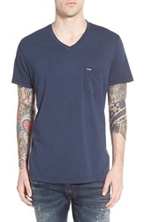 Men's Diesel 'T Thery' V Neck Pocket T Shirt Midnight Blue