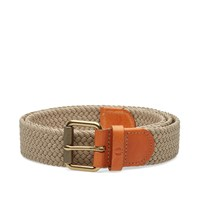 Fred Perry Plain Woven Belt Brown