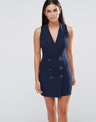 Love Tuxedo Dress Navy