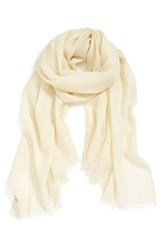Women's Echo Solid Wool Wrap White Cream