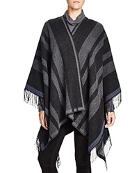 French Connection Blanket Wrap Dark Grey Multi