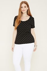 Forever 21 Plus Size Polka Dot Top