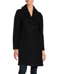 T Tahari Tessa Casual Wool Blend Peacoat Black