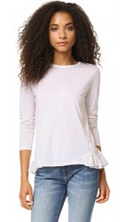 Clu Top With Contrast Silk Pleating Light Pink
