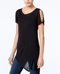 Rachel Roy Asymmetrical Cold Shoulder Top Only At Macy's Black
