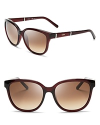 Chloe Chloe Daisy Sunglasses Red Brown Gradient