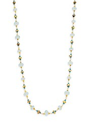 Azaara Romantic Multi Stone Necklace Blue