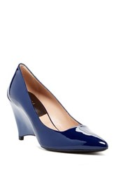 Furla Meridienne Wedge Pump Blue