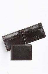 Men's Trafalgar 'Cortina' Money Clip Wallet Brown Dark Brown