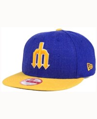 New Era Seattle Mariners Heather 2Tone Snapback Cap Royalblue Yellow