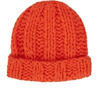Acne Studios Men's Jewel H Chunky Alpaca Blend Beanie Orange