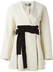 Sportmax Belted Jacket Nude And Neutrals