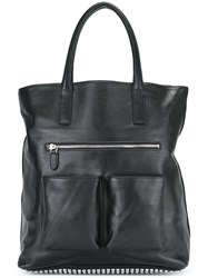 Steffen Schraut Pocketed Tote Bag Black