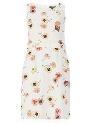 Dorothy Perkins Pansy Printed A Line Pinafore Dress White