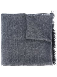 Dondup Frayed Scarf Blue
