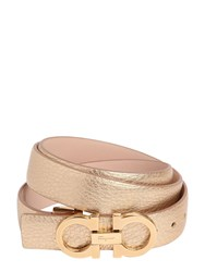 Salvatore Ferragamo 25Mm Grained Leather Belt