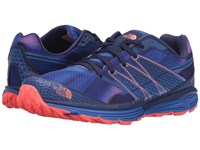The North Face Litewave Tr Patriot Blue Print Tropical Coral Women's Running Shoes