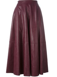 Maison Martin Margiela Mm6 Pleated Maxi Skirt Pink And Purple