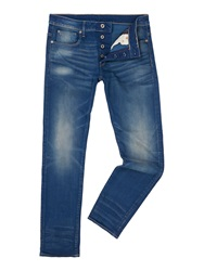 G Star Medium Wash Mid Rise Jeans Denim Mid Wash