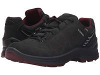 Lowa Tiago Gtx Lo Anthracite Berry Women's Shoes Black