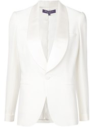 Ralph Lauren Black Label Ralph Lauren Black Tuxedo Blazer White
