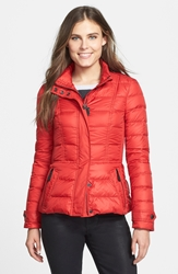 'Dalesbury' Quilted Down Jacket Bright Military Red