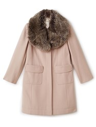 Precis Petite Stacy Fur Collar Long Coat Neutral