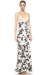 Narciso Rodriguez Watercolor Floral Silk Gown Multi