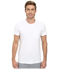 Kenneth Cole Sportswear Short Sleeve Crew W Pocket White Men's Short Sleeve Pullover