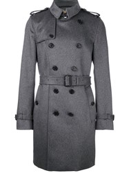 Burberry Classic Double Breasted Coat Grey