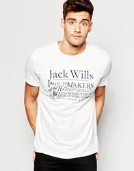 Jack Wills Graphic T Shirt In White