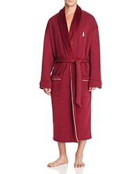 Polo Ralph Lauren Fleece Lined Shawl Collar Robe Classic Wine