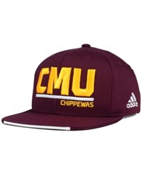 Adidas Central Michigan Chippewas Travel Flat Brim Snapback Cap