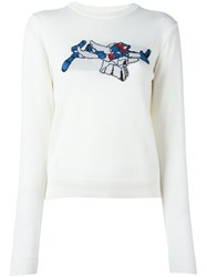 Julien David Crew Neck Sweater White