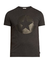 Moncler Maglia Cotton Jersey T Shirt Grey