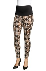 Women's Maternal America 'Belly Support' Ikat Print Maternity Leggings