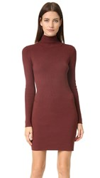 525 America Ribbed Turtleneck Dress Root Beer