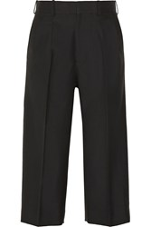 Victoria Beckham Cropped Wool Wide Leg Pants