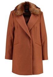 Wallis Classic Coat Rust Brown