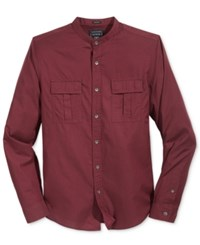 Guess Men's Nelson Fine Twill Shirt Tawny Port Multi