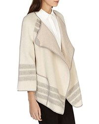 Karen Millen Boxy Wrap Cape Neutral