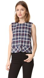Jenni Kayne Bias Banded Shell Top Navy White Red